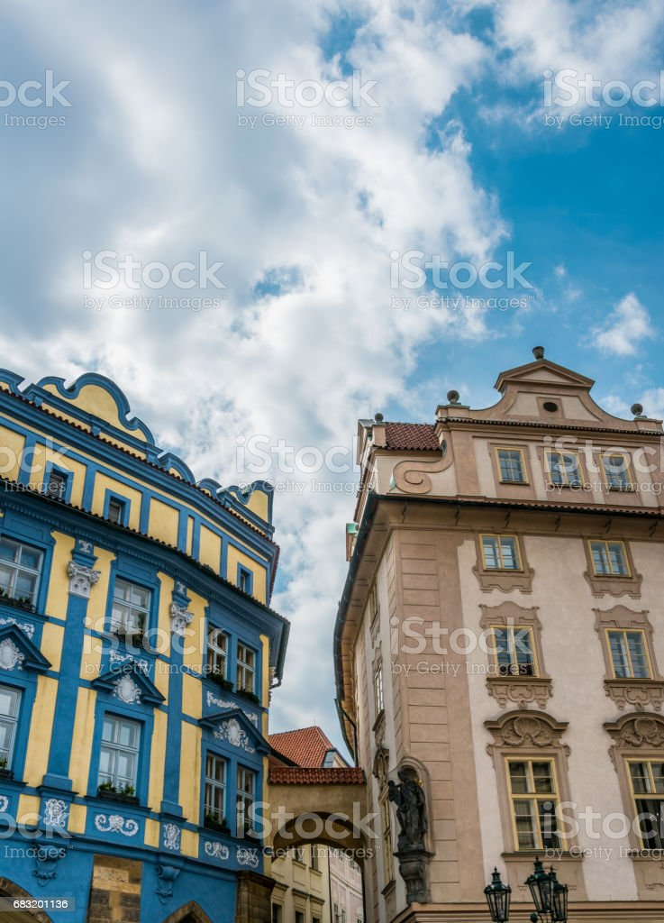 Ancient Prague. The picturesque old quarter of the city royalty-free 스톡 사진