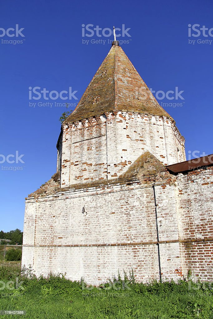Ancient protective tower royalty-free stock photo
