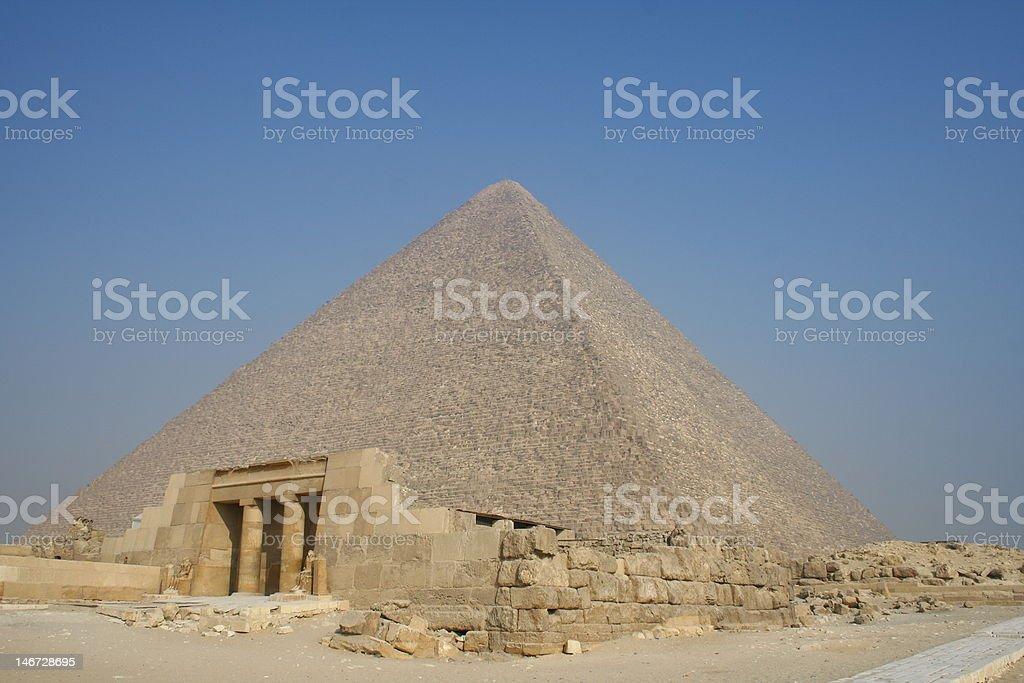 ancient pyramid of Egypt stock photo