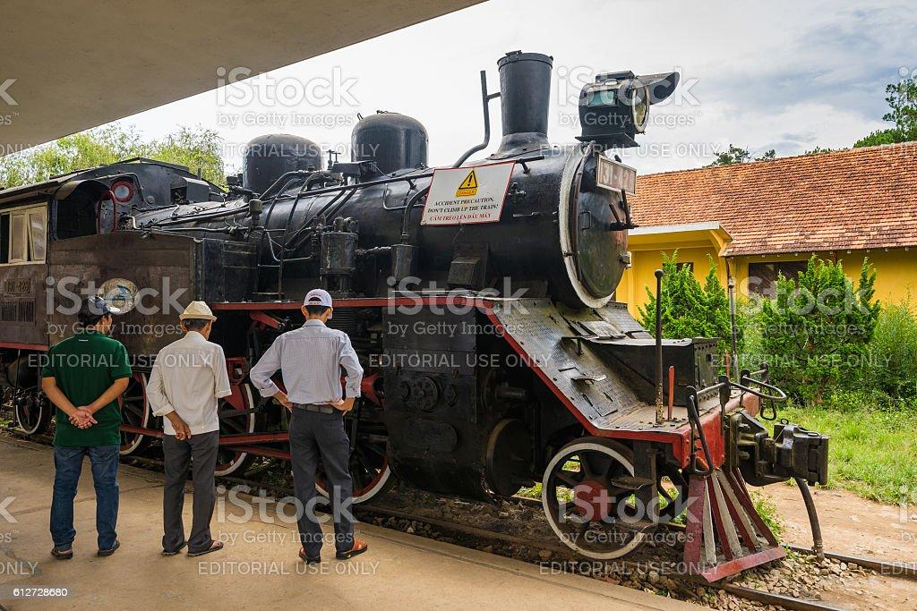 Ancient railway station at Da Lat City Vietnam stock photo