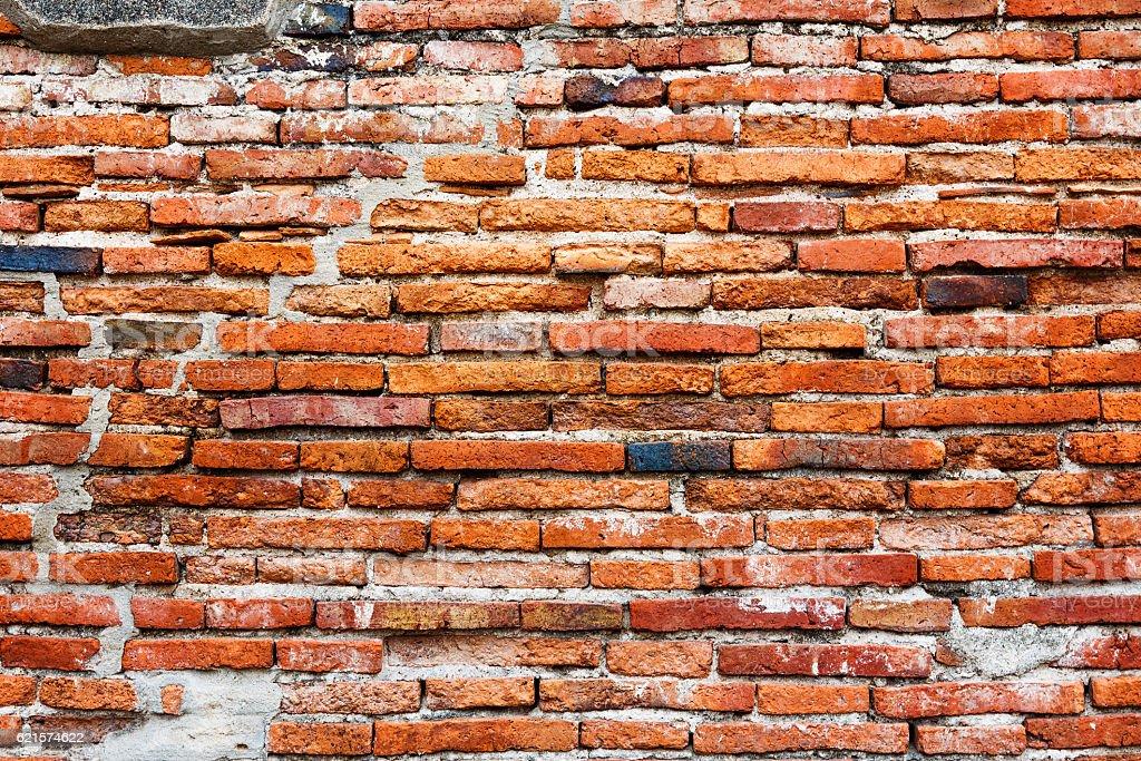 Vieux mur de brique rouge photo libre de droits