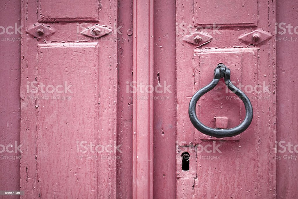 Ancient red door royalty-free stock photo