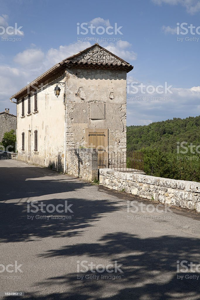 Ancient Residence in the South of France stock photo