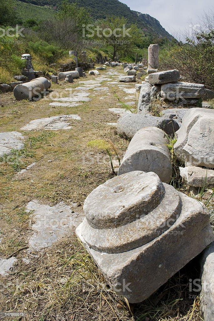 Ancient Road stock photo