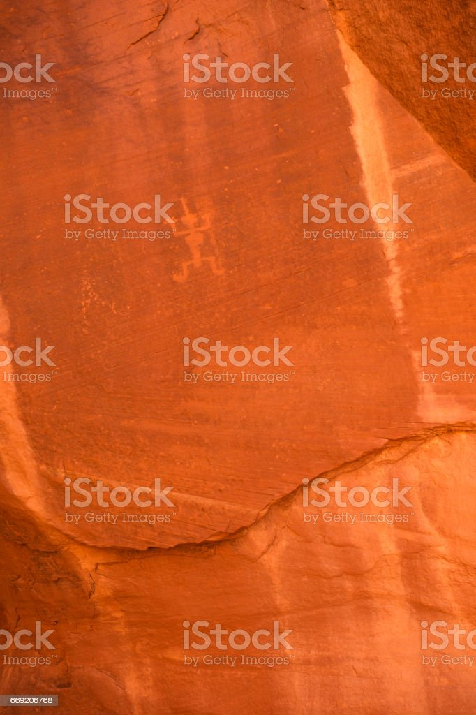 Ancient rock art in Monument Valley stock photo