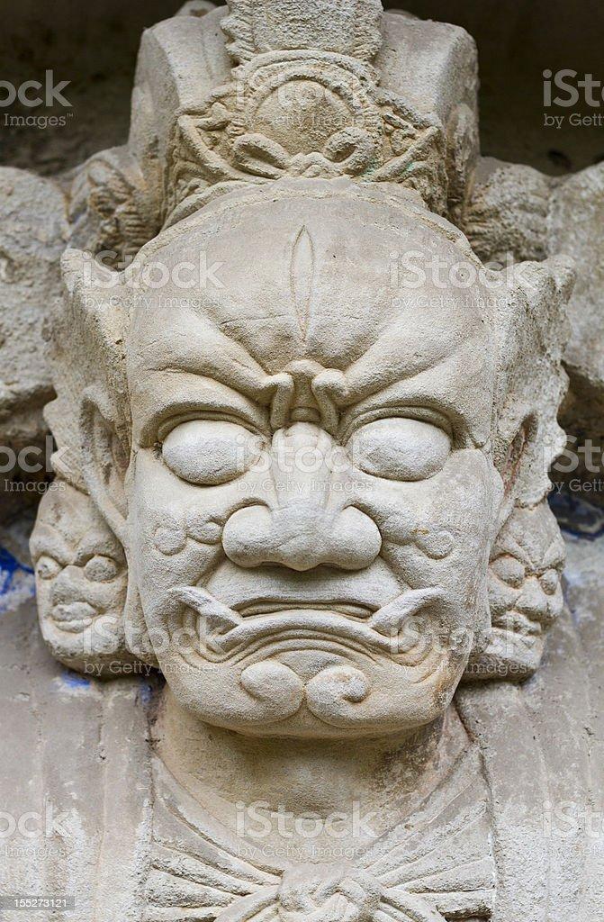 Ancient rock carving  of China royalty-free stock photo