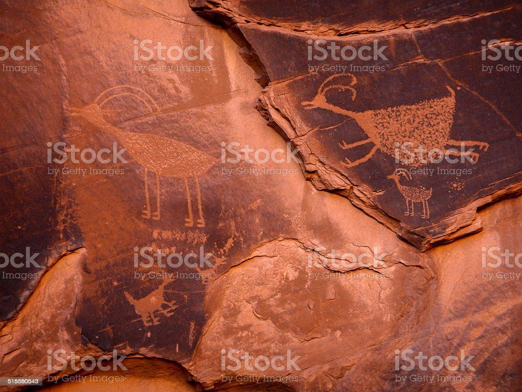 Ancient Rock Drawings stock photo