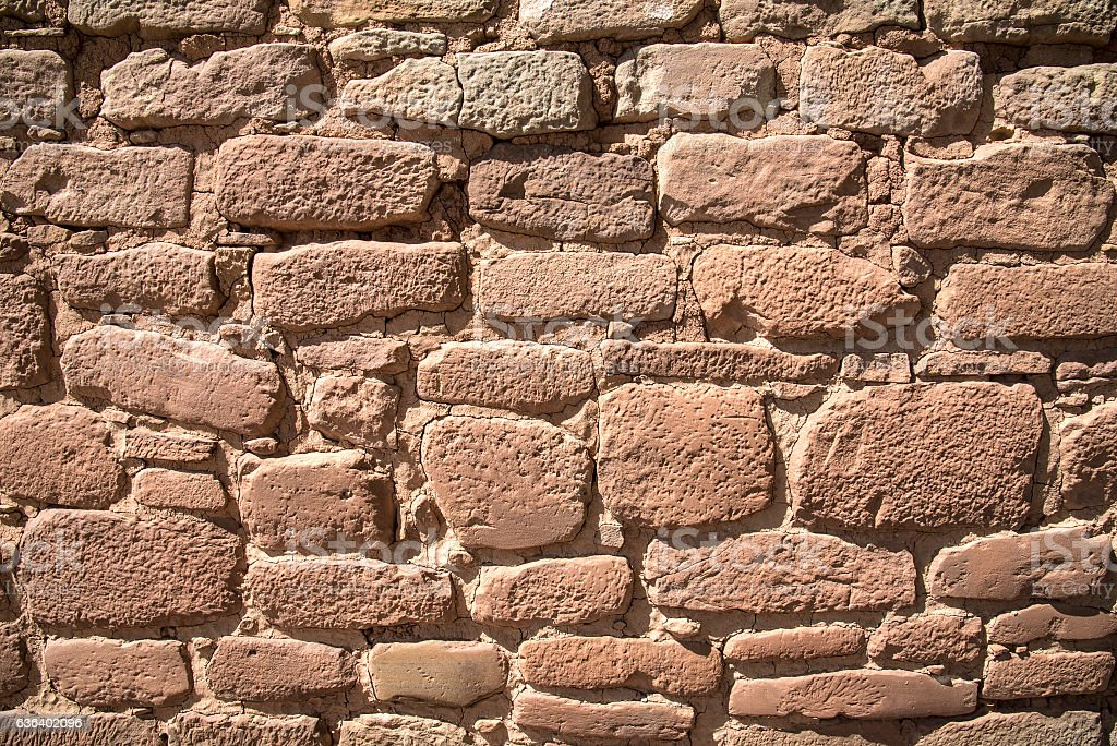Ancient rock wall stock photo