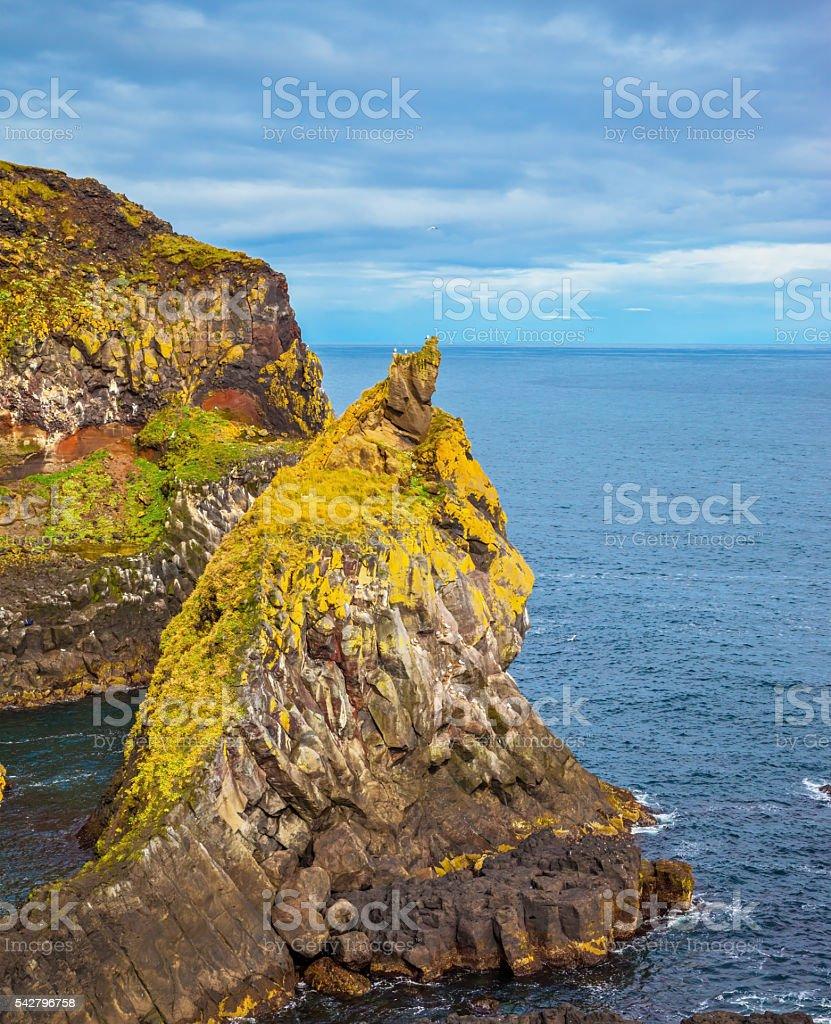 Ancient rocks stock photo