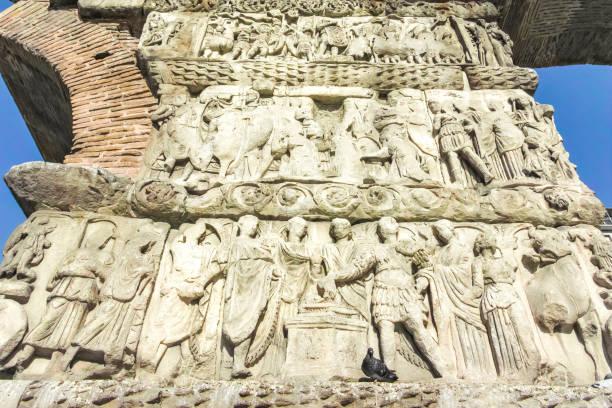 Selanik şehir merkezinde Galerius Antik Roma Kemeri, Yunanistan stok fotoğrafı