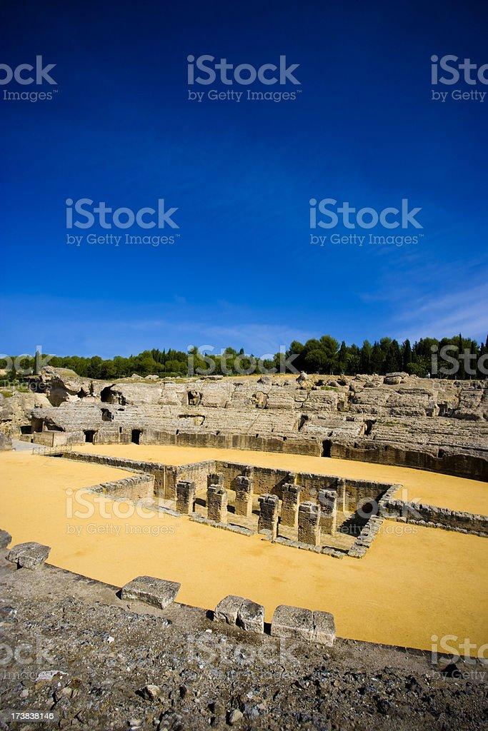 Ancient Roman Arena Italica Spain royalty-free stock photo