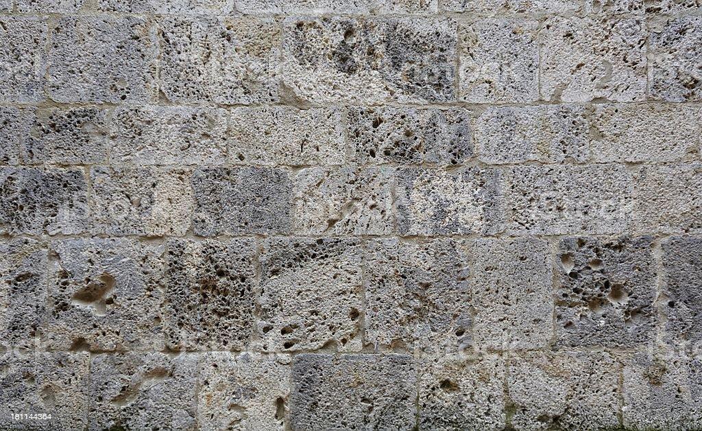 Ancient Roman brick wall : 01 royalty-free stock photo