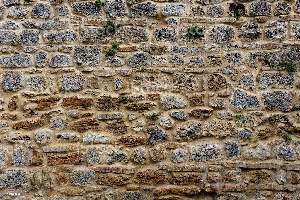 Ancient Roman brick wall : 02 royalty-free stock photo