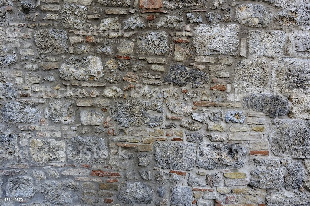 Ancient Roman brick wall : 10 royalty-free stock photo