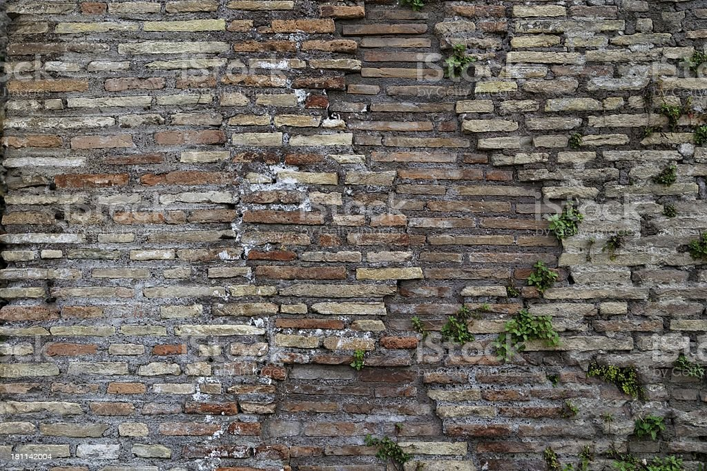 Ancient Roman brick wall : 13 royalty-free stock photo
