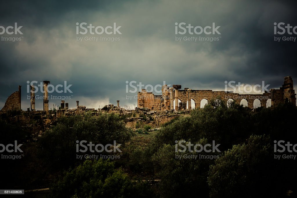 Ancient roman city stock photo