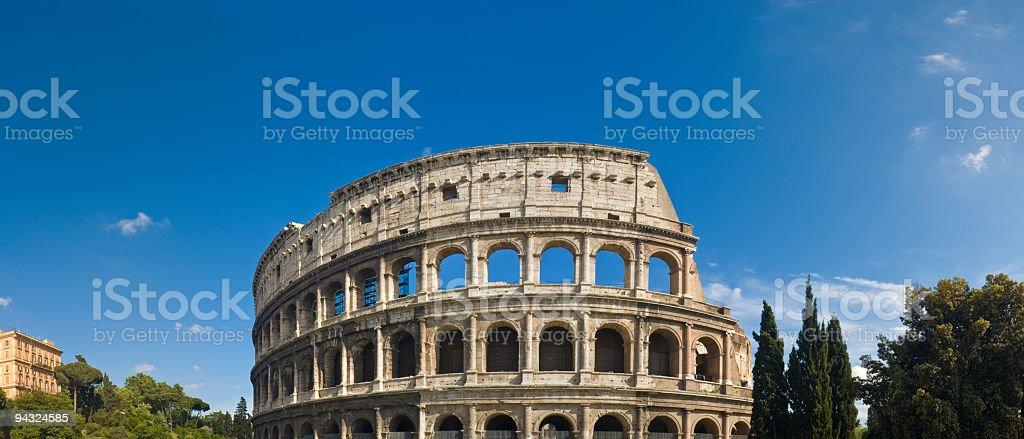 Ancient Roman Colosseum, Rome royalty-free stock photo