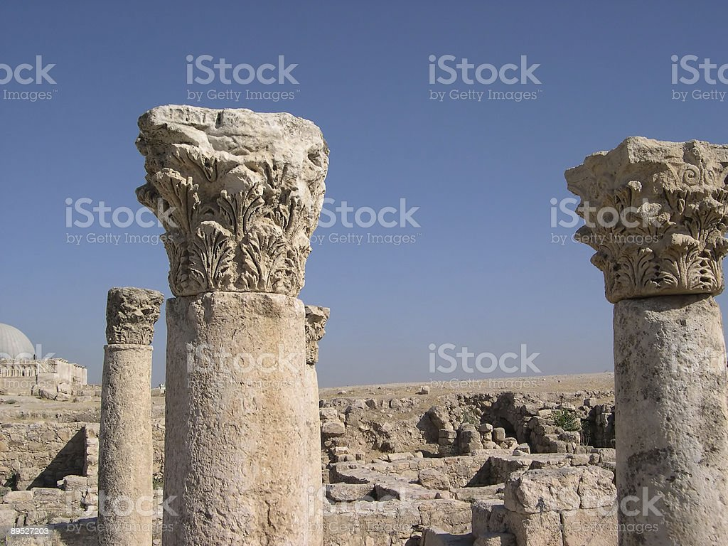 ancient roman columns royalty-free stock photo