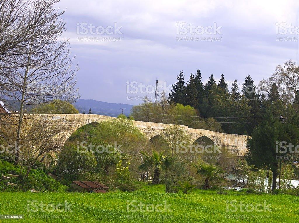 Ancient Roman Eurymedon Bridge royalty-free stock photo