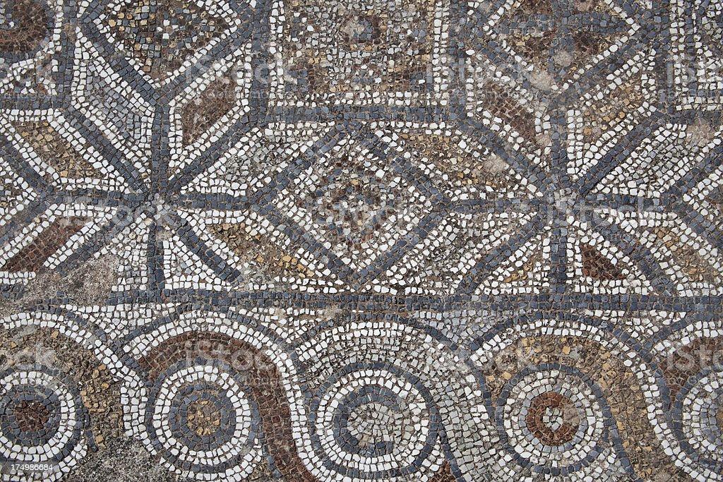 Ancient Roman floor mosaic royalty-free stock photo