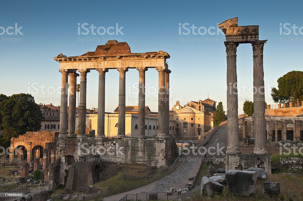 Ancient Roman Forum, Rome royalty-free stock photo