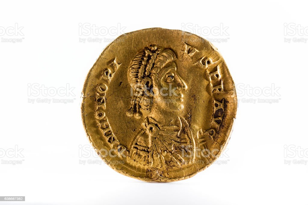 Ancient Roman Gold Coin Stock Photo - Download Image Now - iStock