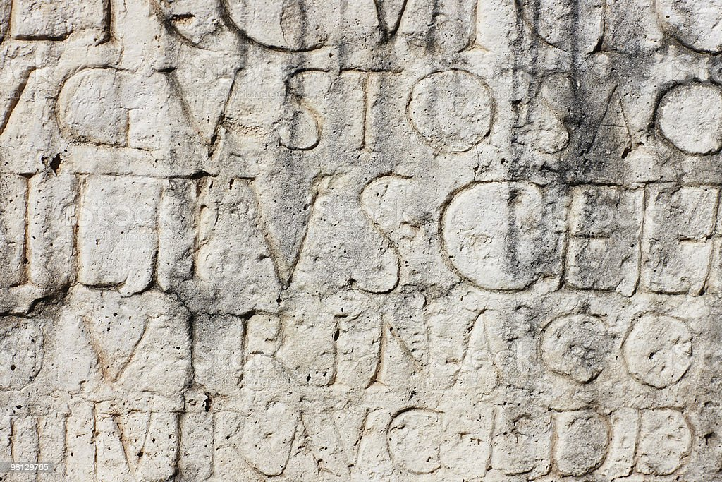 Ancient Roman Inscription royalty-free stock photo