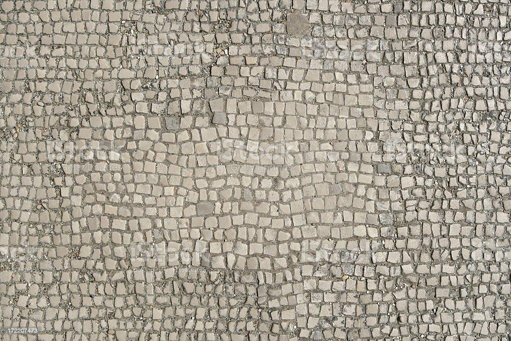 Ancient Roman Marble Mosaic Floor Texture Rome Italy Stock