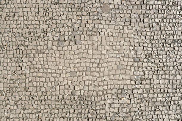 Antike römische Marmor-Mosaik-Etage Textur, Rom, Italien – Foto