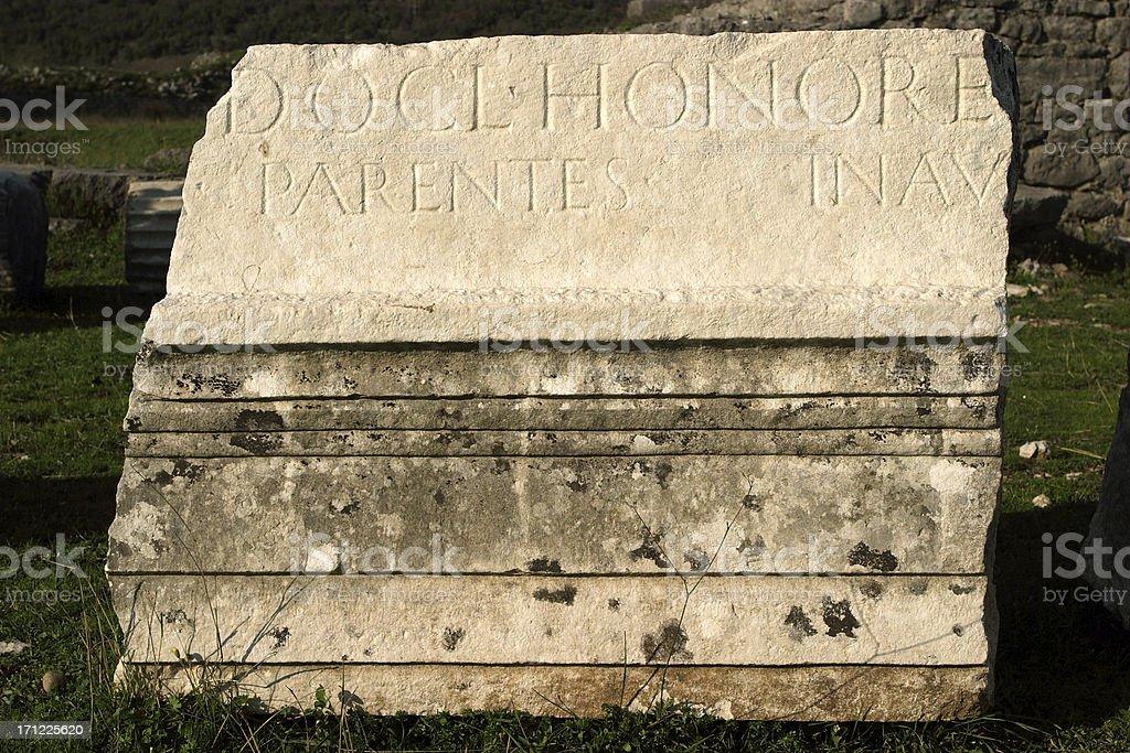Ancient Roman remains royalty-free stock photo