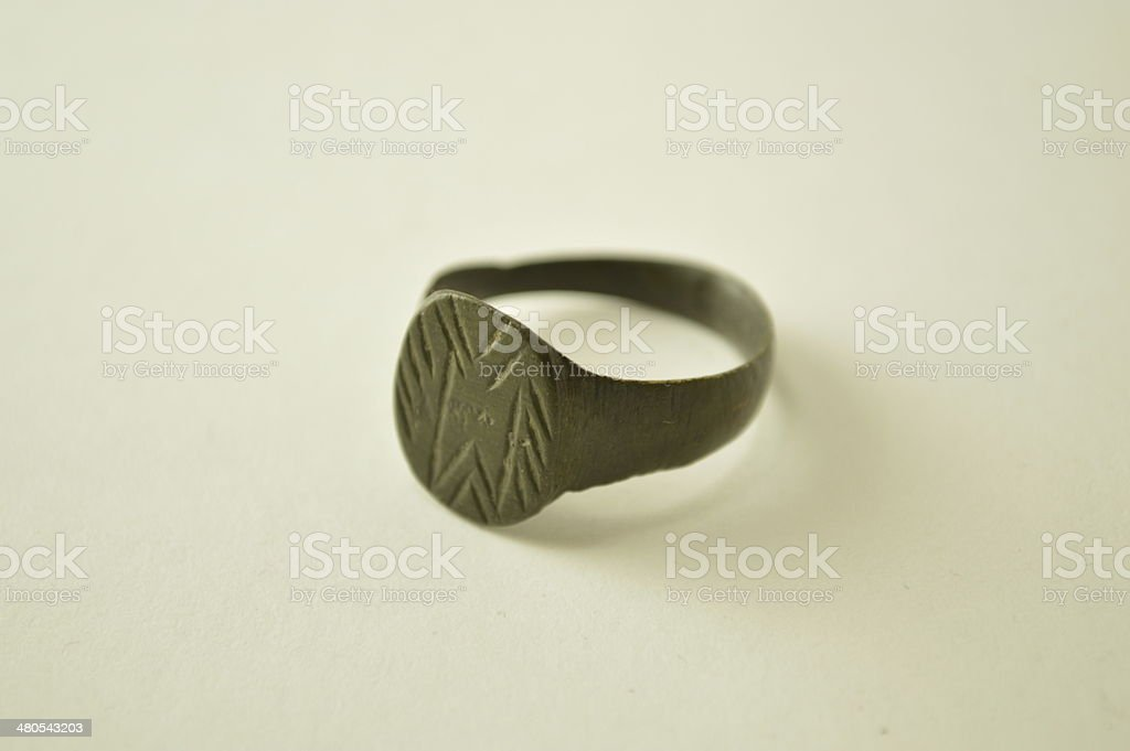 Ancient Roman ring stock photo