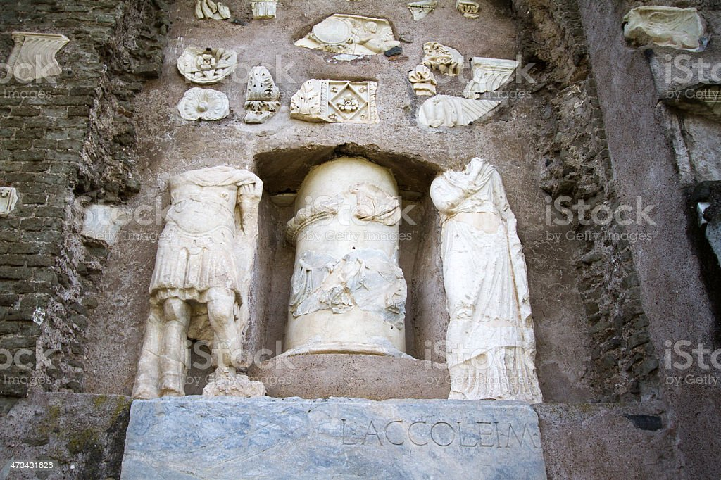 Ancient Roman Ruins Along Appian Way, Rome stock photo