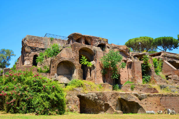 Ancient roman ruins at the Palatine Hill. Ancient roman ruins at the Palatine Hill, Rome, Italy. palatine hill rome stock pictures, royalty-free photos & images