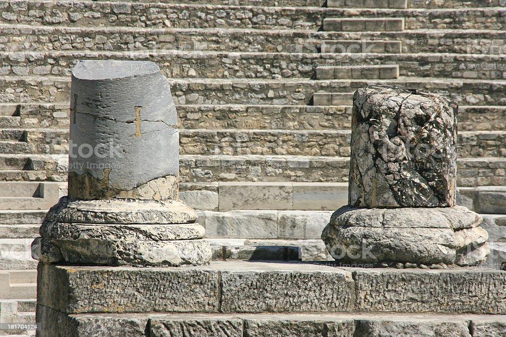 Ancient Roman Ruins in Arles, France. royalty-free stock photo