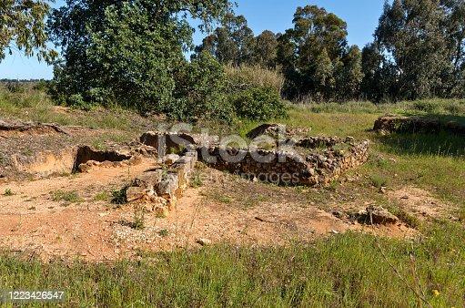 Ancient Roman ruins near Quinta do Lago. Algarve, Portugal