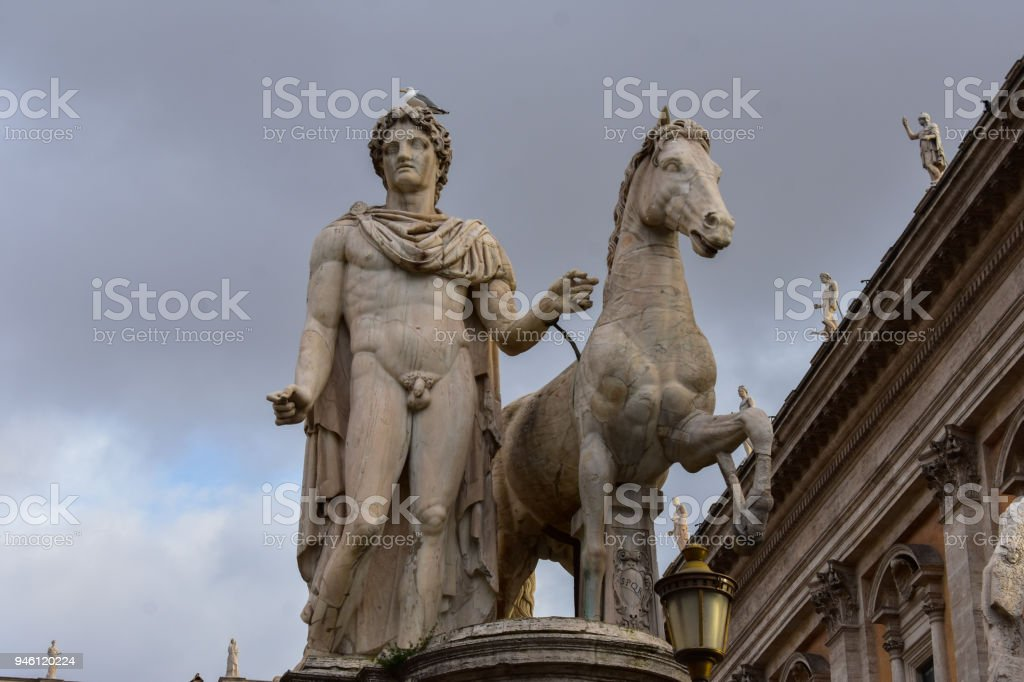 Ancient Roman Statue Of Marcus Aurelius Man With Horse In Rome Italy Stock Photo Download Image Now Istock