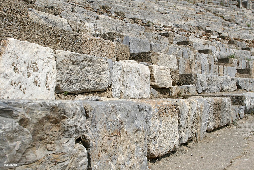 Ancient Roman Theatre, Ephesus, Turkey royalty-free stock photo