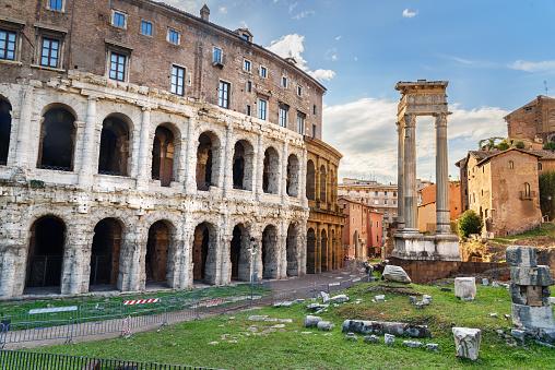 Ancient roman Theatre of Marcellus, Teatro di Marcello. Rome. Italy