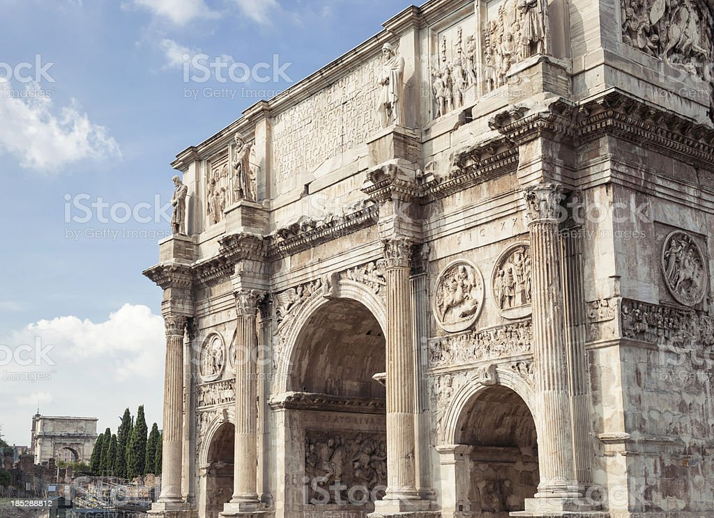 Ancient Roman Triumphal Arches royalty-free stock photo