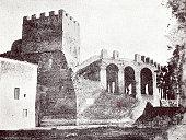 Ancient rome, Aurelian wall, inside