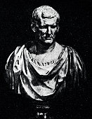 Ancient rome, bust of Marcus Agrippa