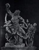Ancient rome, marble group of Polydoros and Athenodoros