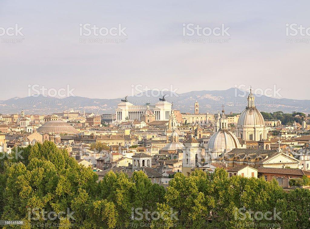 Ancient Rome Skyline royalty-free stock photo