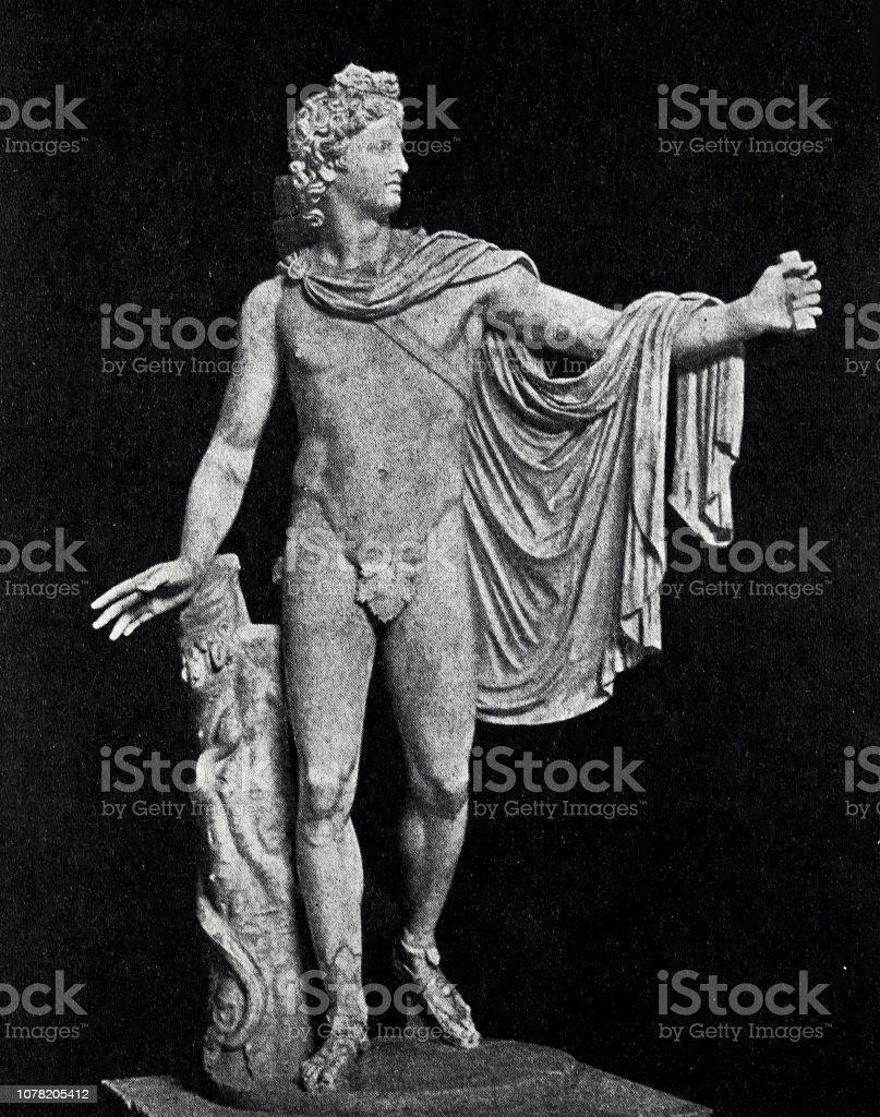 La rome antique, statue d'Apollon - Photo