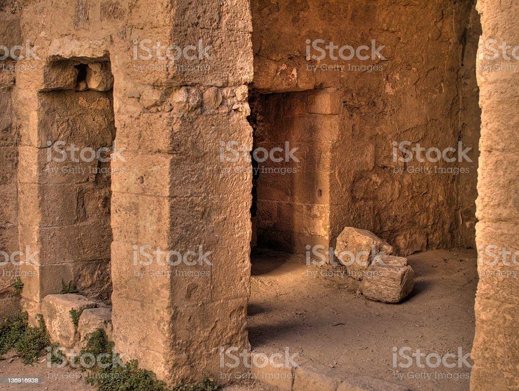 Ancient room. Jordan Kerak stock photo