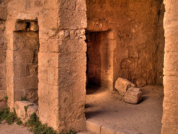 Ancient room. Jordan Kerak stock photo