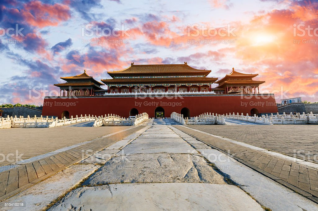 ancient royal palaces of the Forbidden City in Beijing, China The ancient royal palaces building of the Forbidden City in Beijing, China Beijing Stock Photo