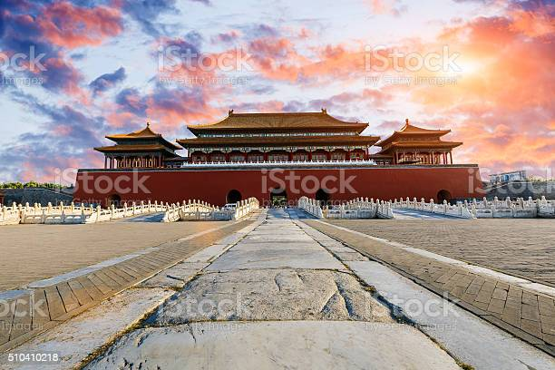 Ancient Royal Palaces Of The Forbidden City In Beijing China Stock Photo - Download Image Now