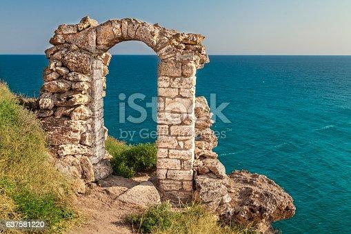 Ancient ruin at Kaliakra, Bulgaria.