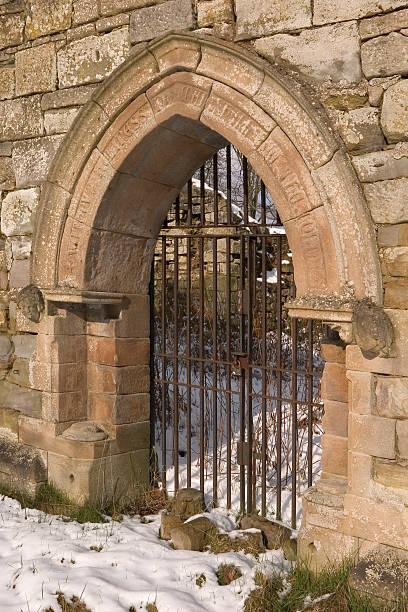 Ancient Ruined Church Doorway stock photo